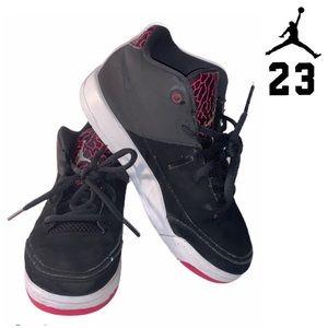 Air Jordan's girls black and pink size 2Y
